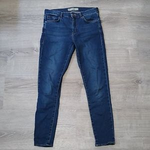 Topshop moto leigh blue skinny jeans 28 6